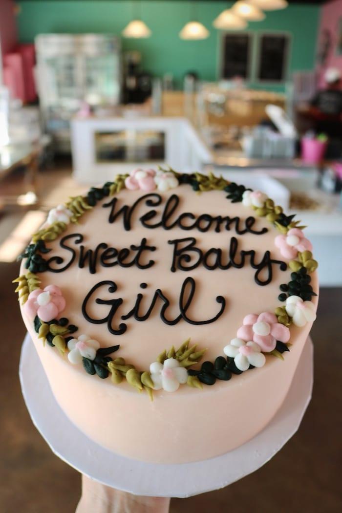 Welcome Sweet Baby Girls Cake | 3 Sweet Girls Cakery