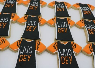Who Dey Jersey Cookies | 3 Sweet Girls Cakery