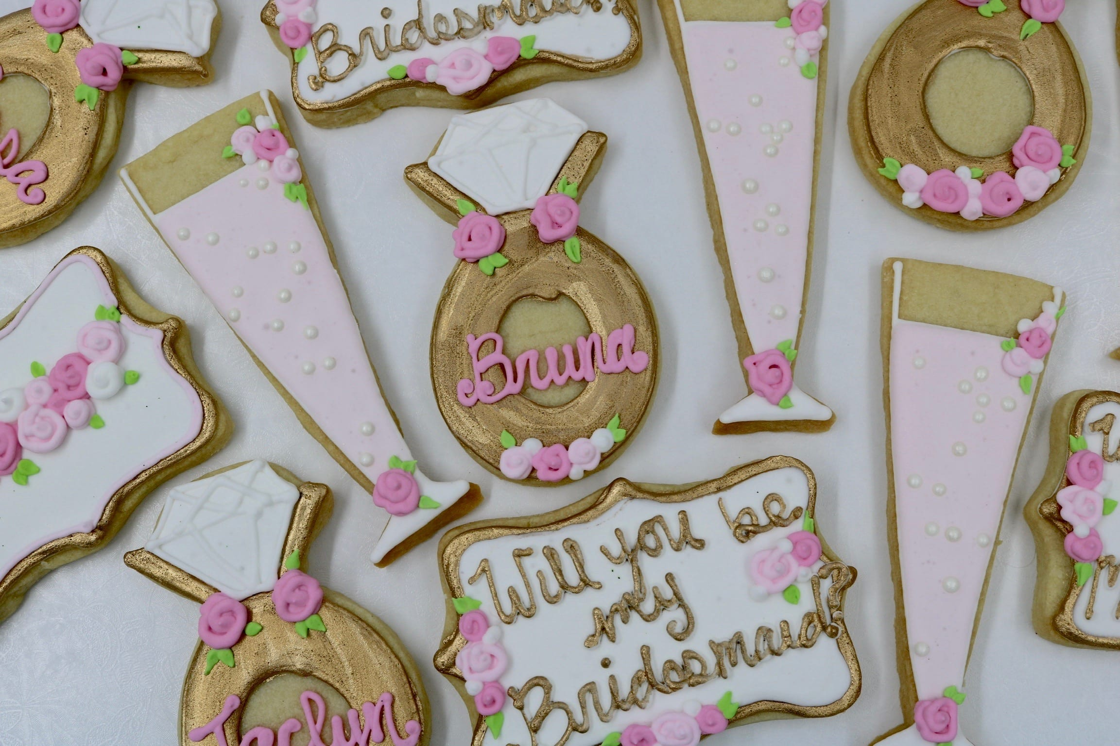 Will You Be My Bridesmaid Cookies | 3 Sweet Girls Cakery