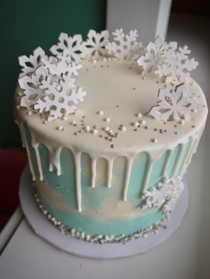 Winter Wonderland Frozen Cake | 3 Sweet Girls Cakery