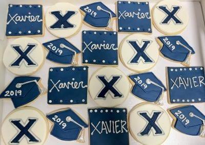 Xavier Graduation Cookies | 3 Sweet Girls Cakery