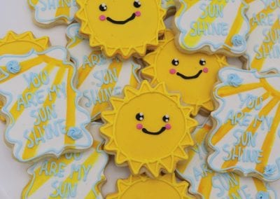 You Are My Sunshine Cookies | 3 Sweet Girls Cakery