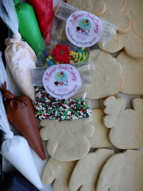 Christmas Cookie Decorating Kit | 3 Sweet Girls Cakery