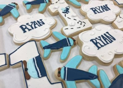 Airplane and Cloud Cookies | 3 Sweet Girls Cakery