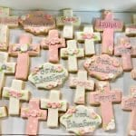 Pink and Peach Baptism Cookies