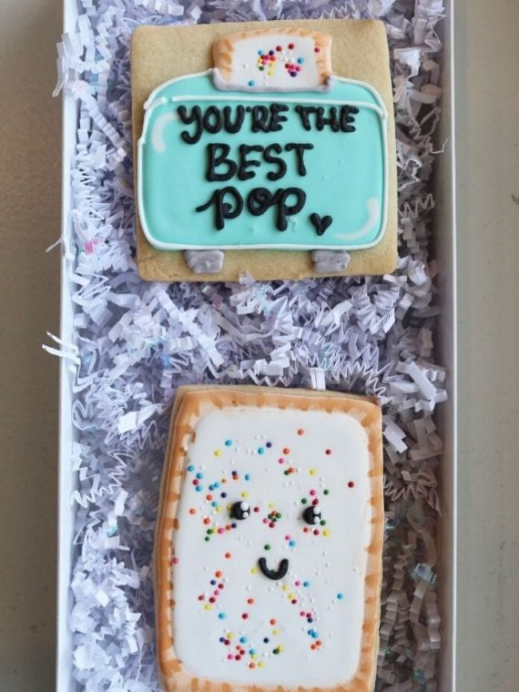 Father's Day Best Pop Cookie Box | 3 Sweet Girls Cakery