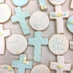 Blue and White Baptism Cookies