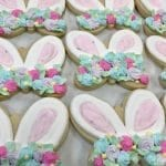 Bunny Ear Cookies with Rosettes