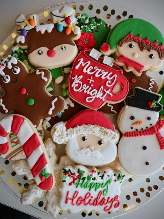 Christmas Cookie Tray   3 Sweet Girls Cakery