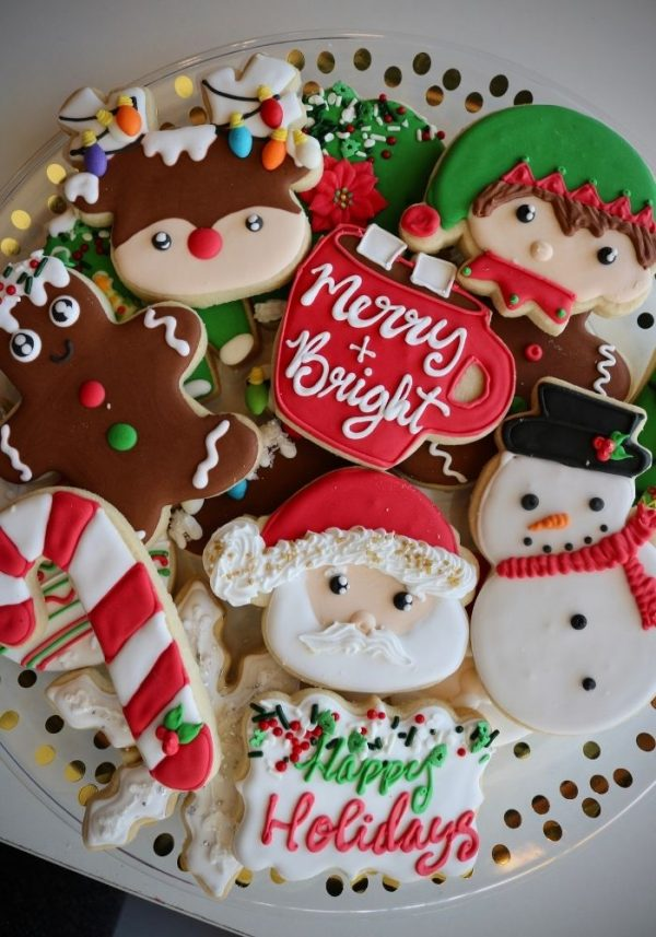 Christmas Cookie Tray | 3 Sweet Girls Cakery