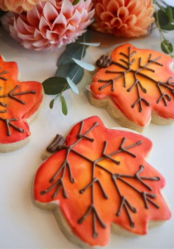 Fall Leaf Cookies | 3 Sweet Girls Cakery