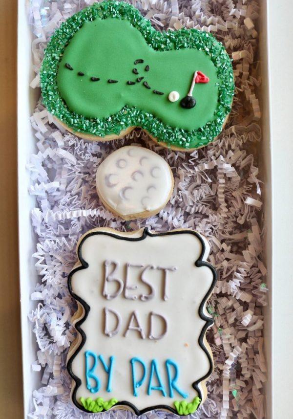 Best Dad By Par Cookie Box | 3 Sweet Girls Cakery