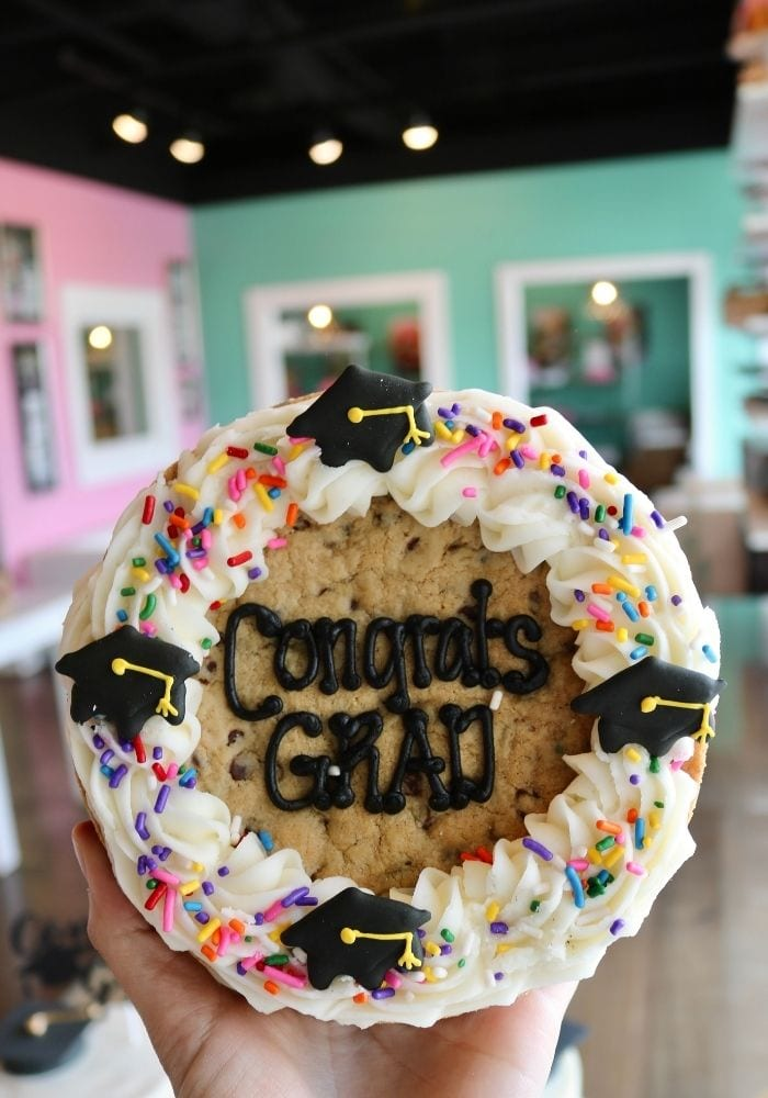 Graduation Cookie Cake | 3 Sweet Girls Cakery