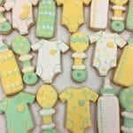 Green and Yellow Baby Cookies