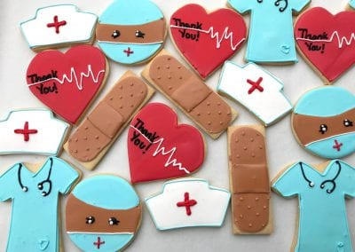 Medical Thank You Cookies| 3 Sweet Girls Cakery