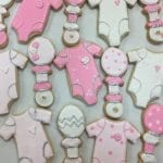 Pink and White Baby Cookies