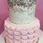 Rosette & Confetti Cake