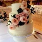 Rustic Textured Wedding Cake at Rhinegeist Brewery