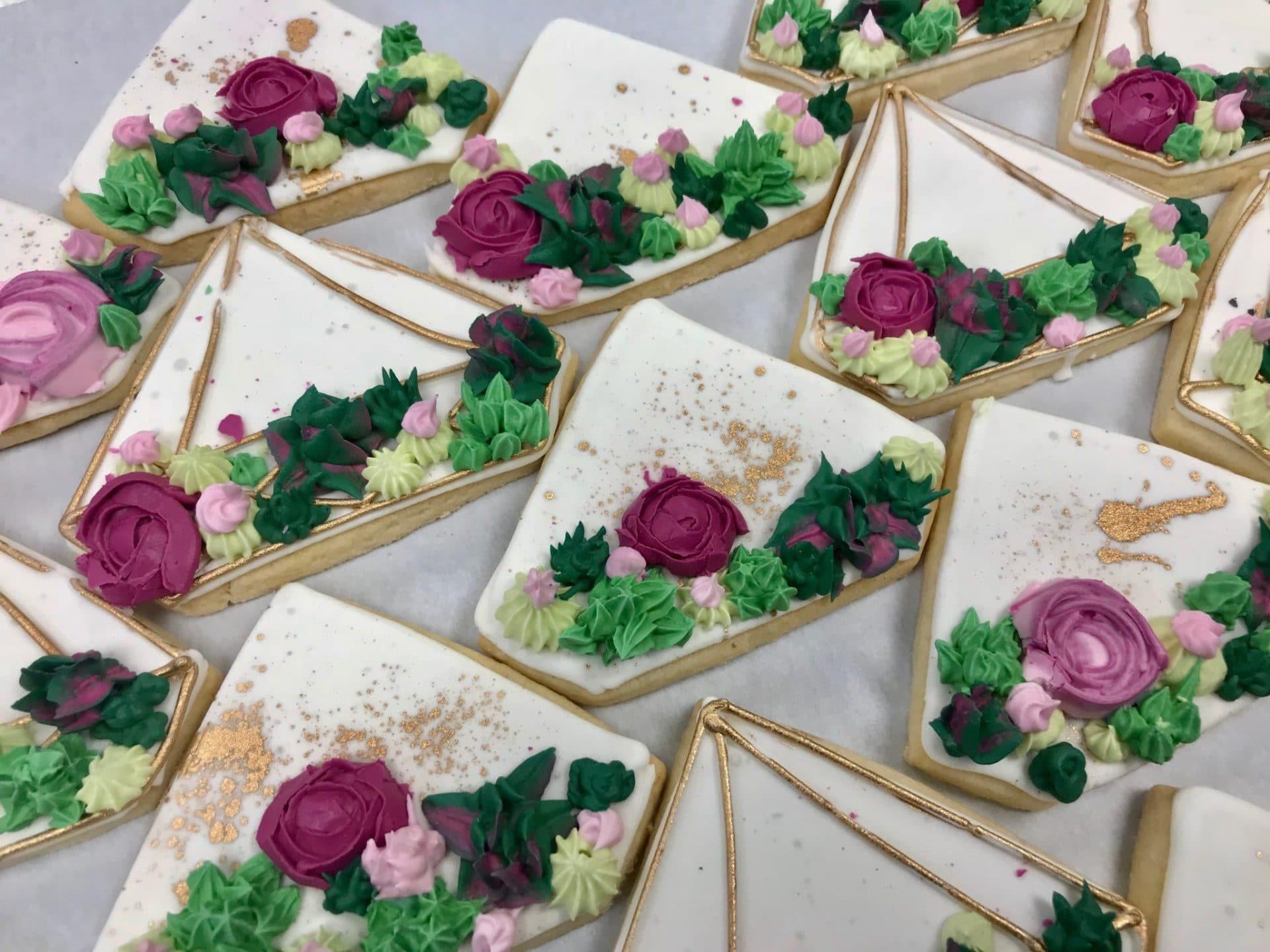 Succulent Garden Cookies   3 Sweet Girls Cakery