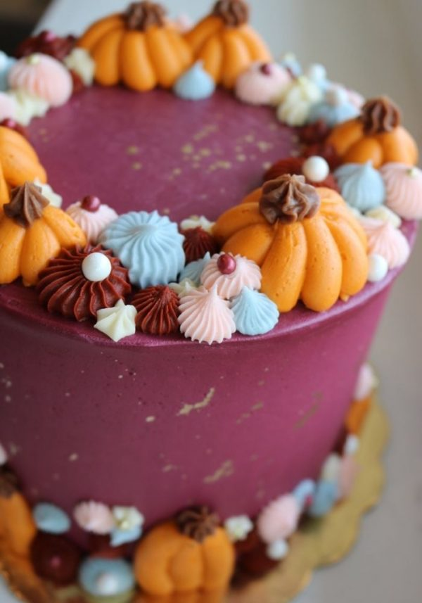 Thanksgiving Cake | 3 Sweet Girls Cakery