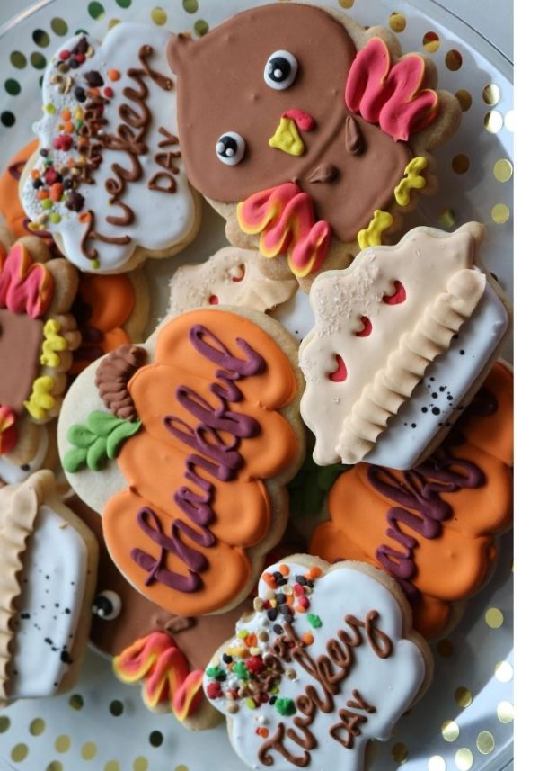 Thanksgiving Cookies | 3 Sweet Girls Cakery