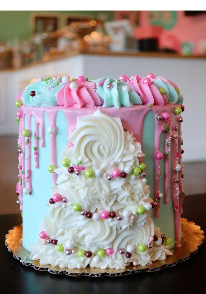 Winter Wonderland Cake | 3 Sweet Girls Cakery