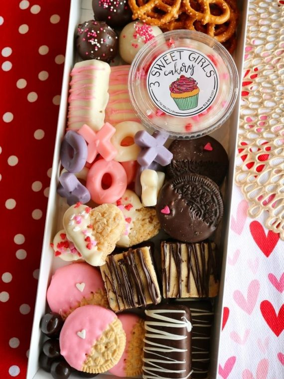 Valentine's Day Dessert Charcuterie | 3 Sweet Girls Cakery
