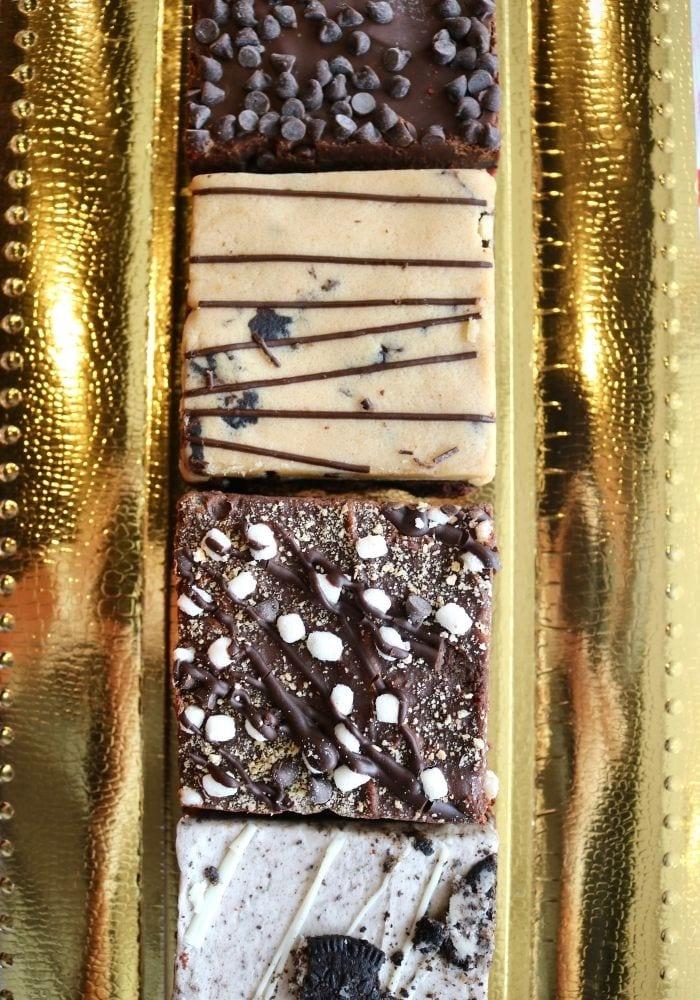 Valentine's Day Brownie Sampler   3 Sweet Girls Cakery