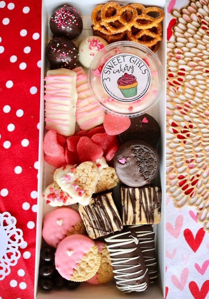 Valentine's Day Dessert Charcuterie | 3 Sweet Girls Cakery