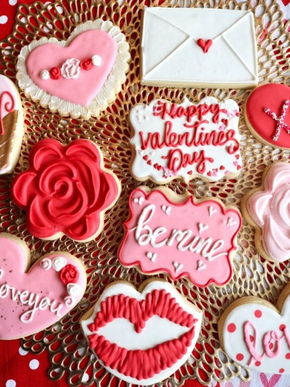 Valentine's Day Cookies | 3 Sweet Girls Cakery
