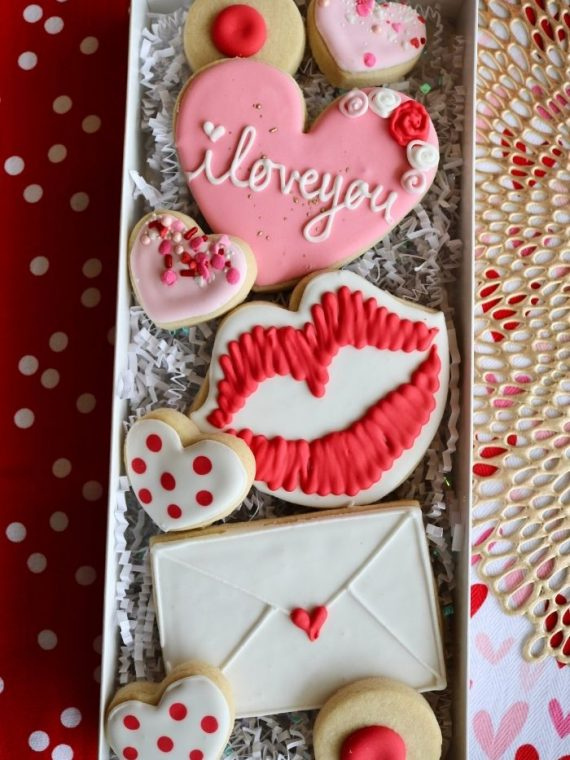 Valentine's Day Cookies | 3 Sweet Girls Cakery