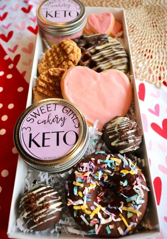 Valentine's Day Keto Dessert Sampler   3 Sweet Girls Cakery