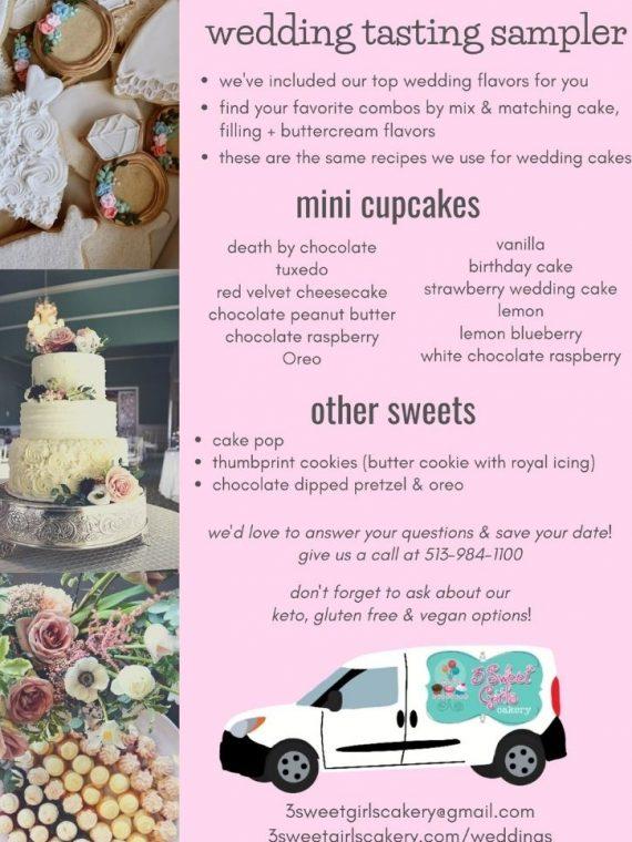 Wedding Tasting Sampler   3 Sweet Girls Cakery
