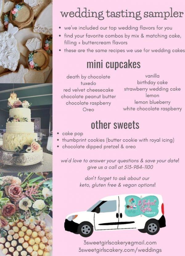 Wedding Tasting Sampler | 3 Sweet Girls Cakery
