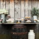 Wedding Desserts on Rustic Display
